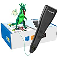 Tecboss 3D Pen, 3D Printing Drawing Printer Pen for Arts Crafts DIY for Kids and Adults, Compatible with PLA Filament,Safe and Easy to Use from Tecboss