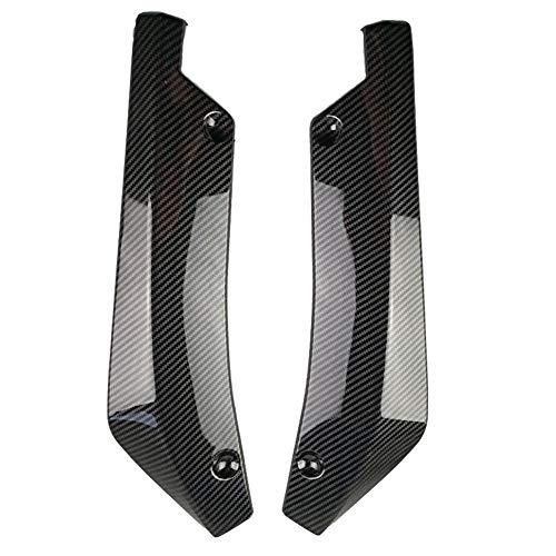 - Niome 2Pcs Car Universal Carbon Fiber Rear Bumper Lip Diffuser Splitter Canard Protector