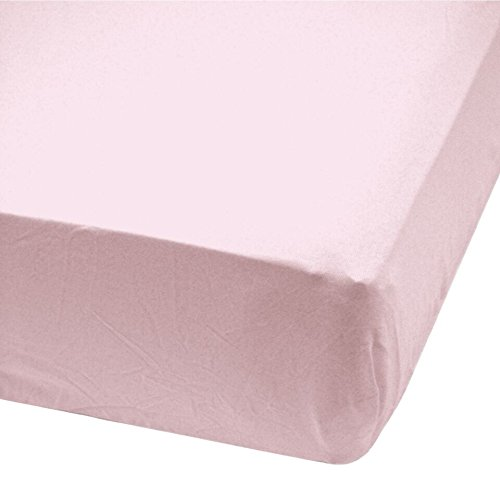 Bamboo crib fitted sheet (Pink) Perlimpinpin