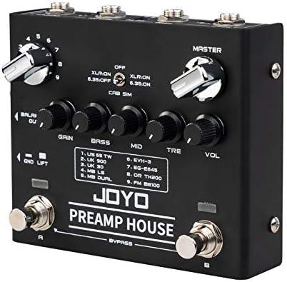JOYO R-15 Preamp House Multi Pedal, Distorsión y Pedal Limpio, 9 AMPs Preamp Simulador Multi Efecto Pedal, 18 Tonos Dual Canal, para Guitarra ...