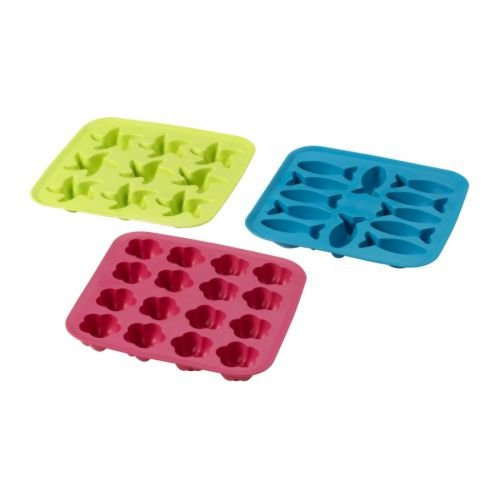 IKEA plastis - bandeja de cubitos de hielo, verde / rosa, turquesa: Amazon.es: Hogar