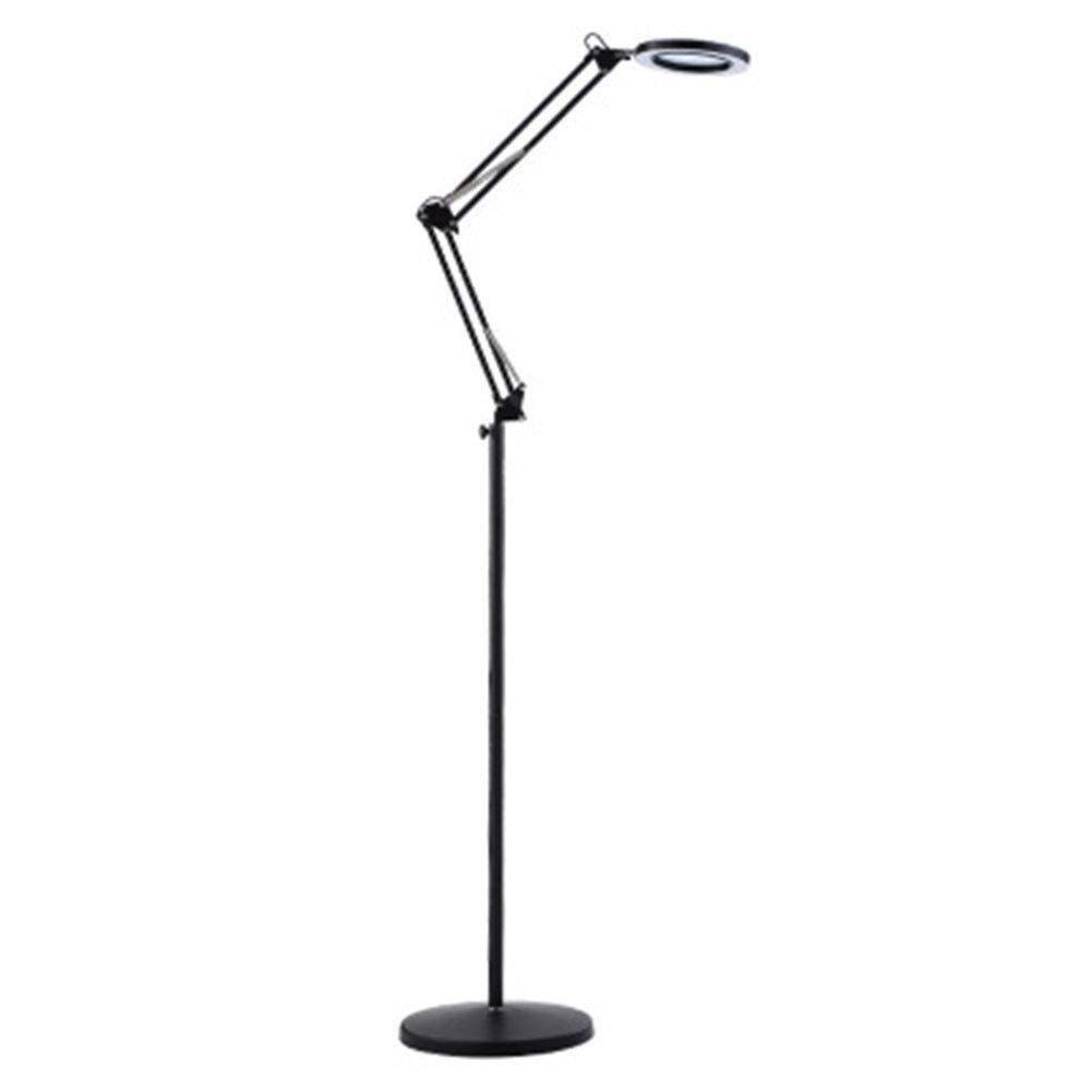 Handheld magnifier 8X LED Magnifier Clip Floor Standing Lamp,360°Swivel Base Adjustable Arm Stable Basereading Magnifying Glass- for Beauty, Salon, Tattoo, Nail, Dental, Reading and Skincare Multipurp by LHBNH