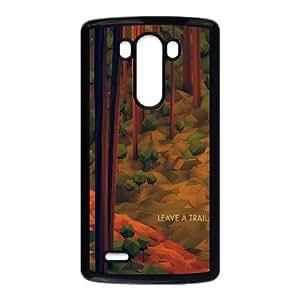 Leave a Trail Forest Illustration LG G3 Cell Phone Case Black DIY present pjz003_6339673