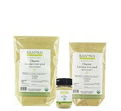 Banyan Botanicals Licorice Root Powder - USDA Organic - Glycyrrhiza glabra - Ayurvedic Herb for Lungs, Skin, & Stomach