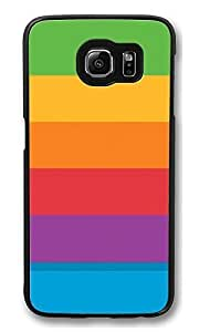 S6 Case, Colorful Homescreen Stripes Creativity Ultra Fit Black Bumper Shockproof Case For Galaxy S6 Customizable Hard PC Samsung Galaxy S6