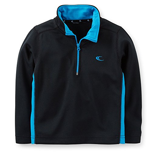 Boys Active Half Zip Pullover (7, Black) (Carters Toddler Boys Pull)