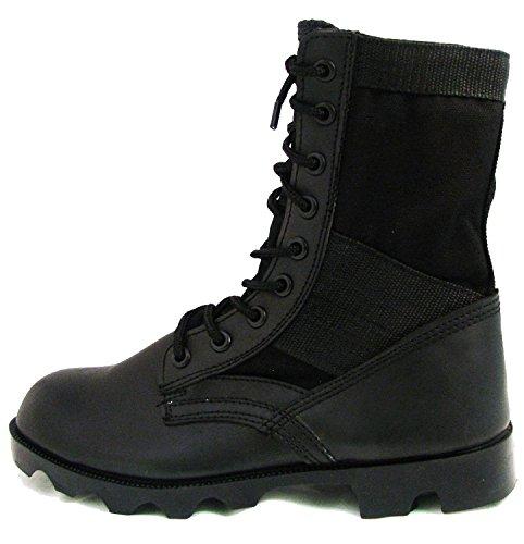 Mens Jungle Boots Gi Tipo Lace Up Combattimento Tattico Militare Scarpe Da Lavoro Larghezza: Largo (w O 2e), Nero Nero