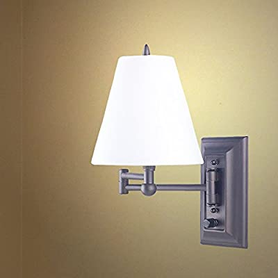 Wall Mount Swing Arm Reading Bedside Lamp Bedroom Light