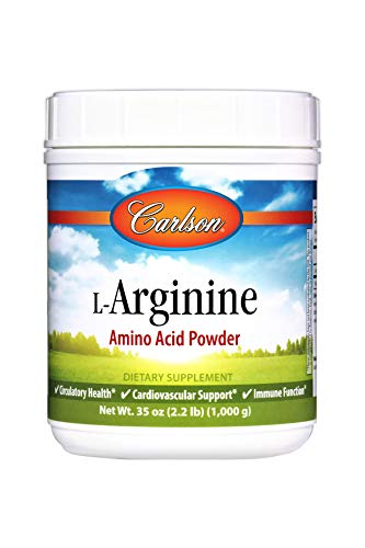 Carlson L-Arginine Powder 3 g, Amino Acid Powder, 1,000 g Jar