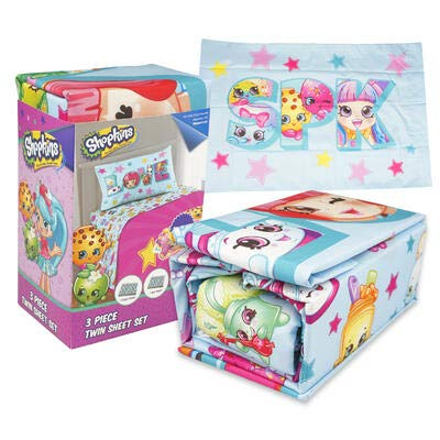 Shopkins 3 Piece Microfiber Twin Sheet Set: Home & Kitchen