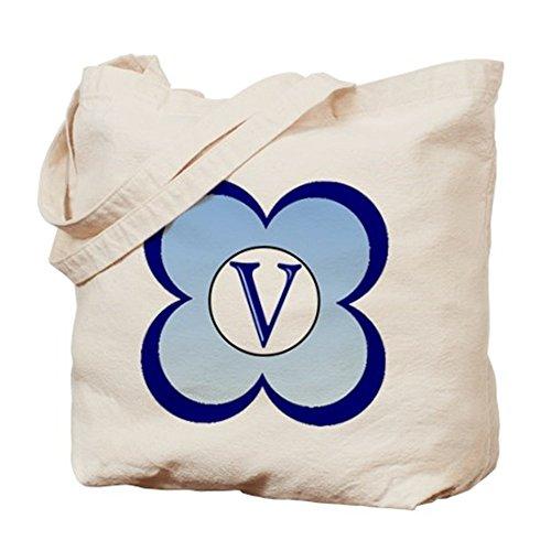 Cafepress–monogrammata (V)–Borsa di tela naturale, tessuto in iuta