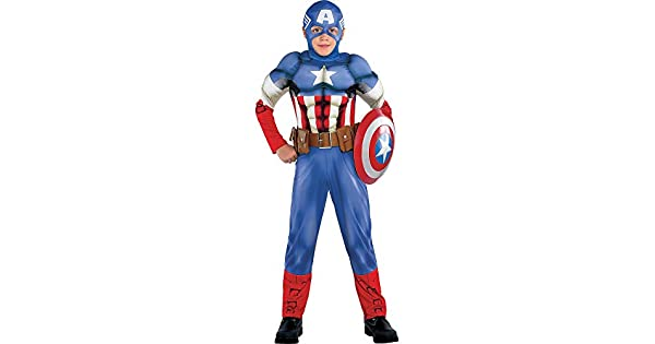 Amazon.com: Disfraz de Capitán América de Estados Unidos ...