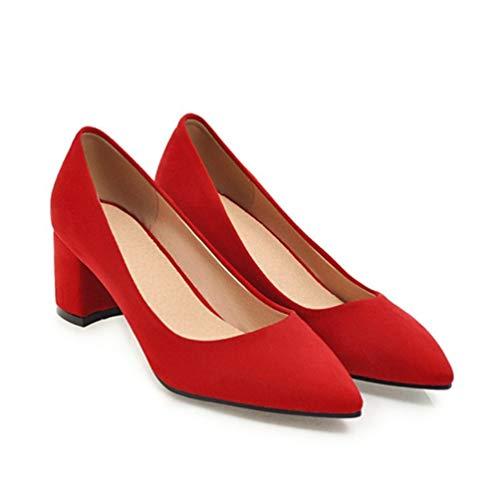 Puntiagudos de Gruesas Altos Bombas Zapatos Tacones Las resbal Mujeres Zapatos Trabajo wx4fYnq
