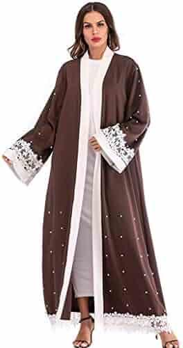 62428f1d3b Close-dole Women's Muslim Middle Eastern Arab National Style Long Cardigan  Robe Abaya Long Islamic