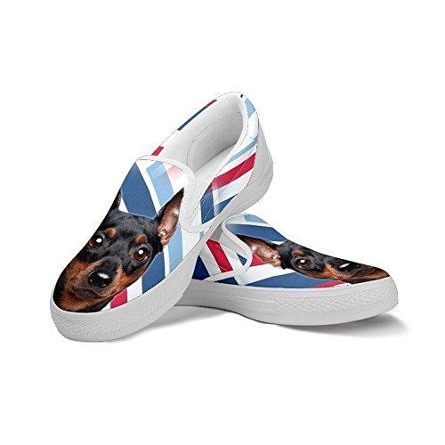 Dog Women's Miniature Pet Breed Choose Slip For Pinscher Shoes Ons Ons Cute Slip Print Women Your qrtwF6r7