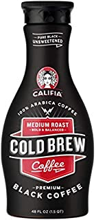 product image for Califia Farms Pure Black Unsweetened Cold Brew Coffee, 48 Oz