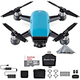 DJI Spark, Fly More Combo, Sky Blue + Sandisk Ultra 32GB Card + USB Card Reader
