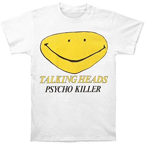 Talking Heads Men's Psycho Killer Slim-Fit T-Shirt White (X-Large) ()