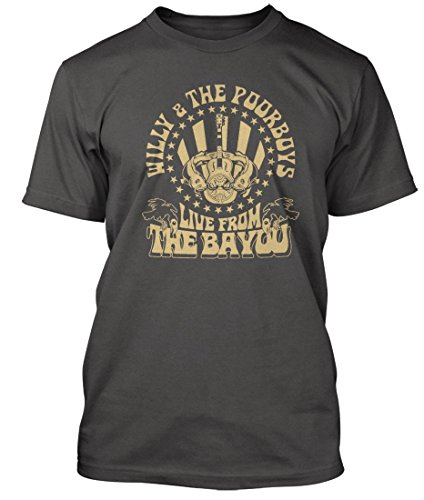 Bathroom Wall Creedence Clearwater Revival Inspired Willy & The Poor Boys, Men's T-Shirt, XX Large, - Shipping Clearwater