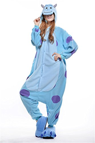 [VU ROUL Adult Kigurumi Cosplay Costume Monsters University Sullivan Pyjamas L] (Pajamas Dance Costumes)