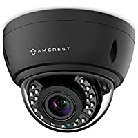 Amcrest 4x Optical Zoom HD 1080P 1920TVL Dome Outdoor Security Camera (Quadbrid 4-in-1 HD-CVI/TVI/AHD/Analog), 2MP 1920x1080, 65ft Night Vision, Motorized Varifocal Lens 40°-90°, Black (AF-2MVD-VARIB)