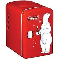 Coca-cola Compact 6-can Portable Fridge/mini Electric Cooler (Red)