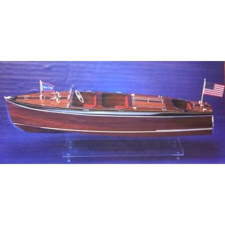 Dumas Chris Craft Triple Cockpit Barrel Back Wooden Boat Kit