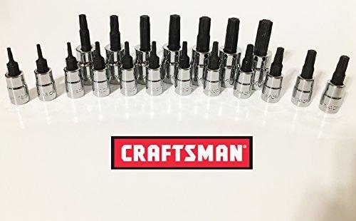 Craftsman Socket Torx - Craftsman 19 pieces Torx Bit Socket Star Set 1/4