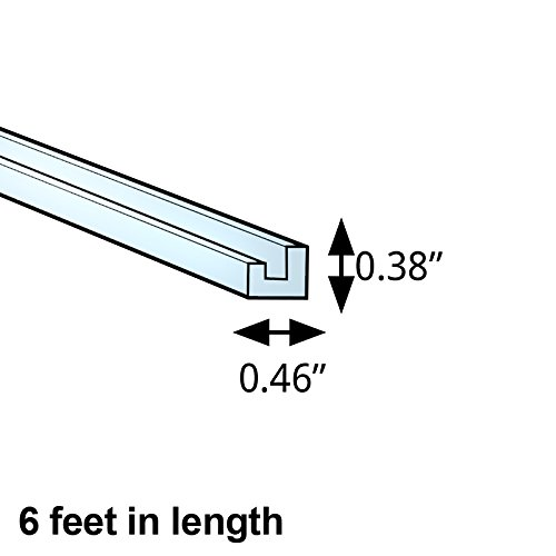 Count of 5 New 5'' H Clear Acrylic 1/2'' J-Bar with 1/8'' Lip 6 foot length