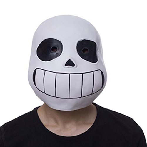 NSOKing Hot Latex Full Head Sans Latex Mask Cosplay Cartoon Skull Mask Pro Kids Mask (Kids Size, Black)