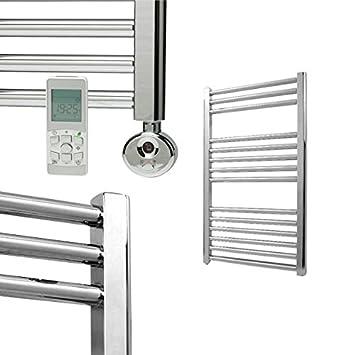Calefactor eléctrico con varilla de calefacción y regulador, Radiador Calentador de toallas, recto Bray cromo/blanco/antracita 800 x 600 chrom: Amazon.es: ...