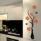 DIY Acrylic 3D Vase Wall Stickers, 80 x 40 cm