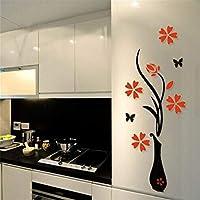 ملصق جداري بتصميم مزهرية ثلاثية الأبعاد من الاكريلك بقياس 80×40 سم