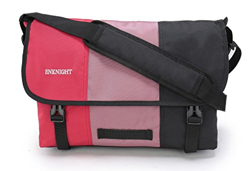 Price comparison product image ENKNIGHT Classic Messenger Bag Big Briefcase Shoulder Laptop Bag Cross body Bags Red/Black