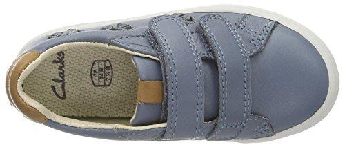Clarks Brill Jive Inf, Zapatillas Para Niñas Azul (Blue Leather)