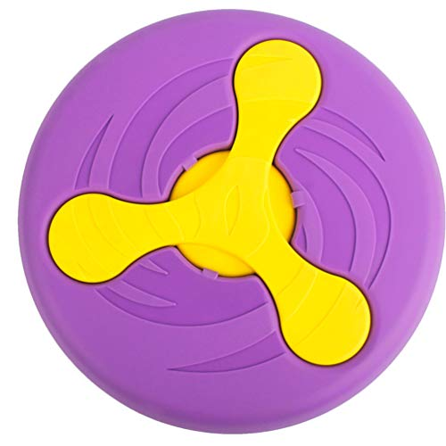 Wandrola Flying Disc Dog Sport Disk Saucer Interactive Toy Multifunctional Pet Float Flyer with Boomerang (Purple) (Mars Flying Saucer Disc)