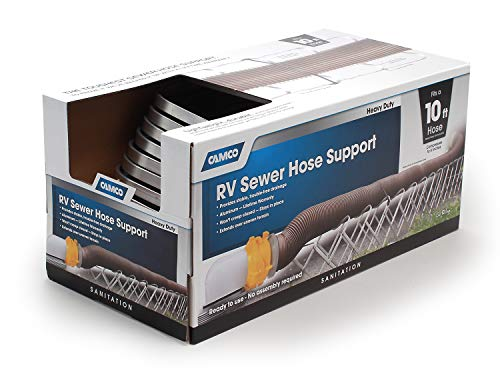 Camco-Aluminum-Sewer-Hose-Support-40351-Supports-Sewer-Hoses-Up-to-10
