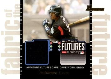 2003 Bowman Draft Picks Fabric of the Future Relics #FF-RC Robinson Cano Game Worn Jersey Baseball Rookie Card