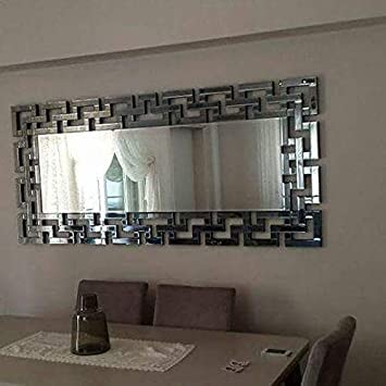 Buy Quality Glass Silver Horizontal Decorative Wall Mirror ...