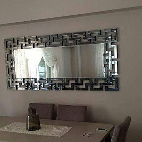 Buy Quality Glass Silver Horizontal Decorative Wall Mirror For