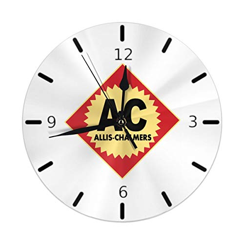 Flypo-yoc Allis Chalmers Logo Round Acrylic Wall Clock Non Ticking Silent Clocks for Home Decor Living Room Kitchen Bedroom Office School