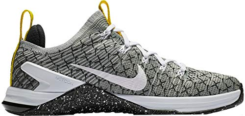Nike Women's Metcon DSX Flyknit 2 X Training Shoes (Black/White/Yellow, 7 M US) ()