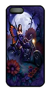 Fairy Biker Polycarbonate Hard Case Cover for iPhone 5/5S Black