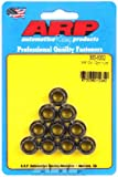 ARP 3008332 12 Point Flanged Nut Kit 8740 Chrome Moly 0.38-24 x 0.44 Wrenching44; 10 Per Pack
