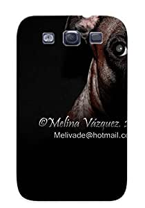 (dJOumr-61-tCEky)durable Protection Case Cover With Design For Galaxy S3(Animal Dog Artistic Animal Photography Perro Estudio Claro Oscuro Melina)