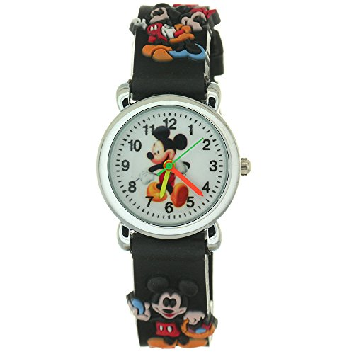 TimerMall Spider Man Waterproof Green Watch Bracelet Time Teacher Analogue Quartz Cartoon Watches (Mickey Mouse Gold Pocket Watch)