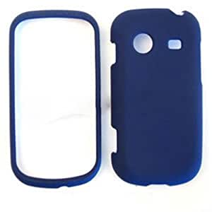 ACCESSORY HARD RUBBERIZED CASE COVER FOR SAMSUNG CHARACTER R640 NAVY BLUE