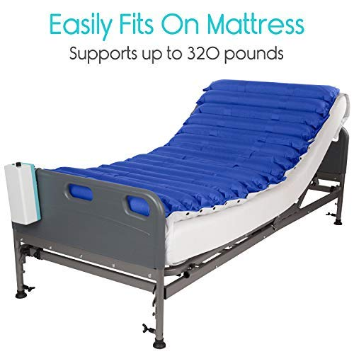 Vive Alternating Pressure Mattress 5'' - Air Topper Pad for Bed Sore, Ulcer Prevention, Bedridden Treatment - Inflatable, Quiet Alternative Cover - Fits Hospital Bed - Includes Electric Pump System by Vive (Image #4)