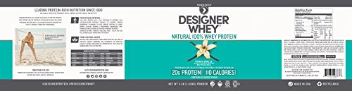 Designer Whey Premium Natural 100% Whey Protein, French Vanilla, 4 Pound by Designer Whey (Image #3)