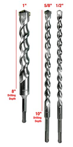 SDS-Plus Long Drill Bit Set For SDS Rotary Hammers In Concrete Makita 3 Piece